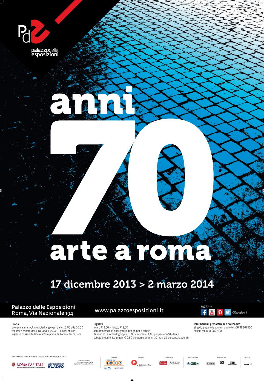 Mostra anni 70 arte a roma family welcome for Mostra palazzo delle esposizioni