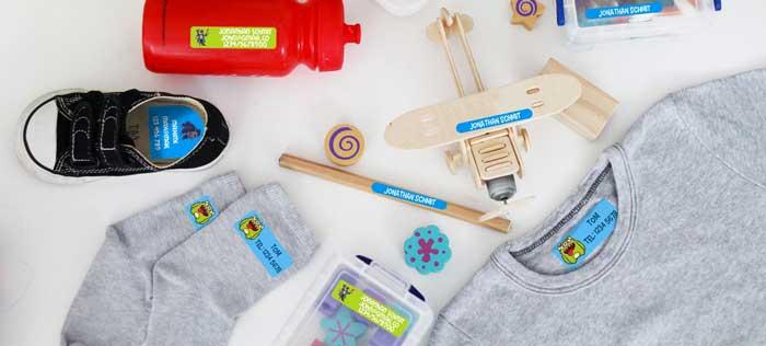 etichette personalizzabili per la scuola e per l'asilo