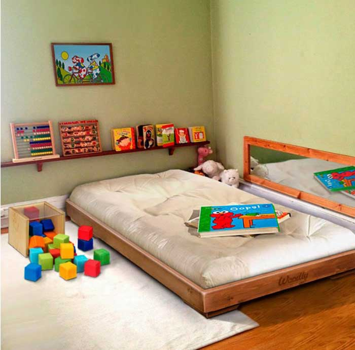 20 idee per realizzare una cameretta montessori da sogno family welcome. Black Bedroom Furniture Sets. Home Design Ideas