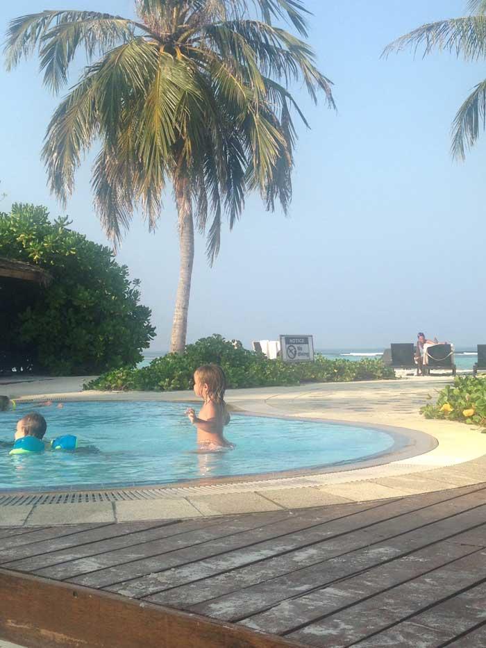 Maldive con i bambini