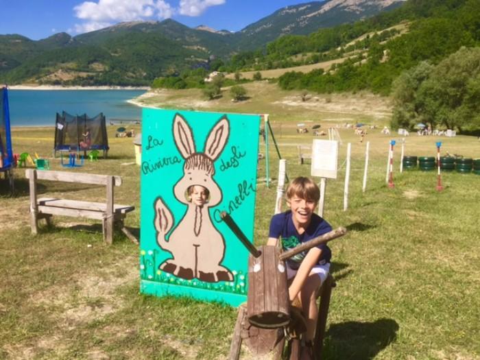 Lago del Turano con i bambini