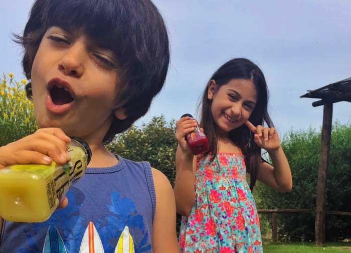 stratti di frutta per bambini ortoromi