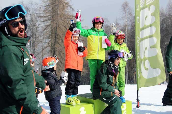 gare di sci per bambini a Cortina d'Ampezzo