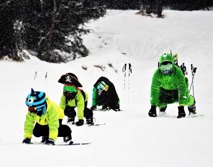sciare a Cortina d'Ampezzo con i bambini