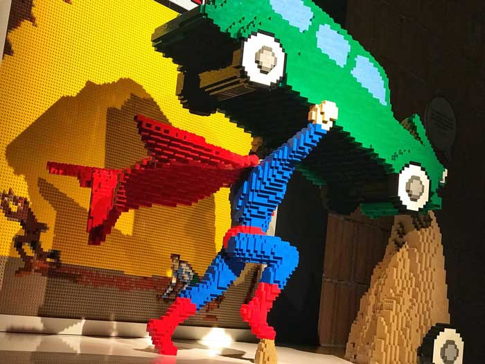the Art of Brick i super eroi di Lego