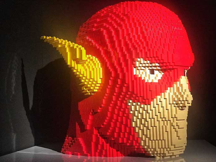 the Art of Brick con i super eroi di Lego
