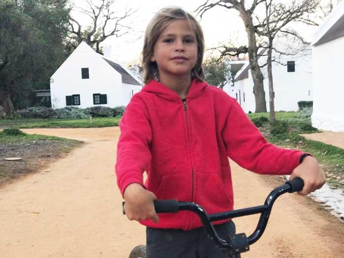 Sudafrica con i bambini in bicicletta