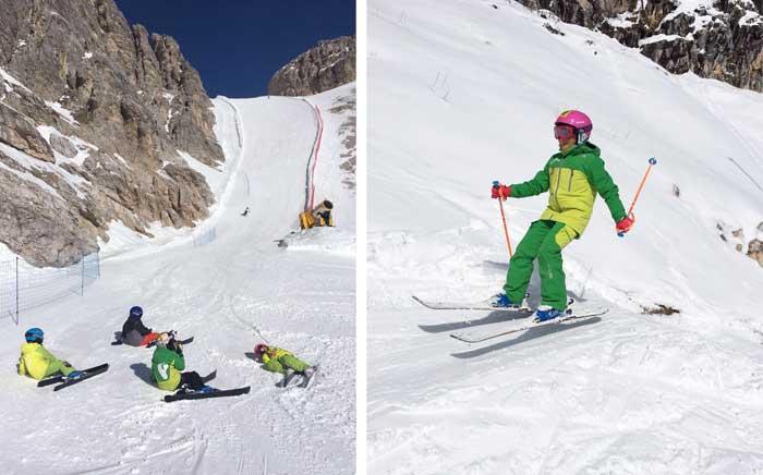 sciare con i bambini a Cortina d'Ampezzo