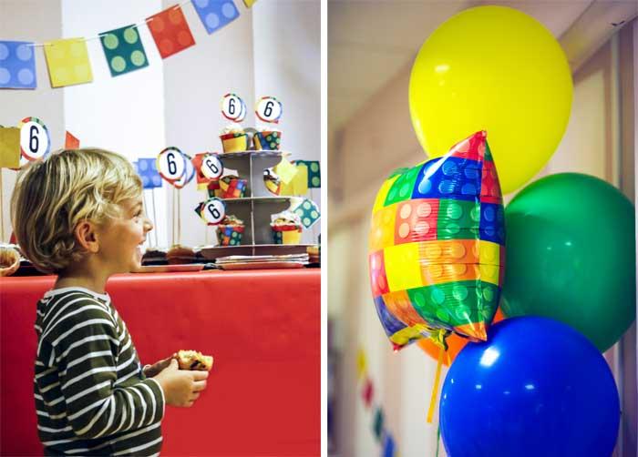 festa a tema costruzioni palloncini