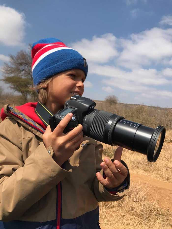 Safari con i bambini leoni