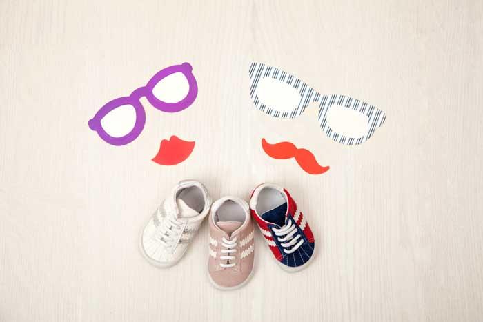 Scarpine neonati primi mesi