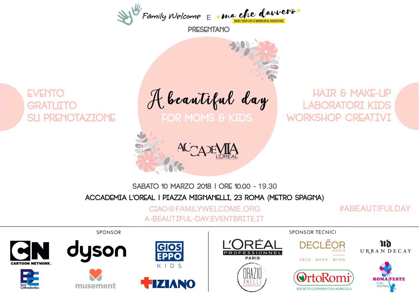a beautiful day evento machedavvero e family welcome
