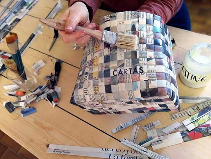 borsette di carta fatte a mano