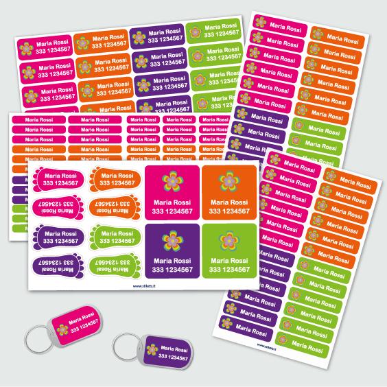 etichette identificative per bagaglio dei bambini