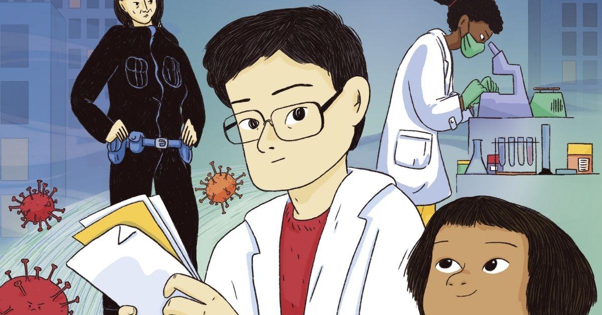 Il Dottor Li ed il virus con in testa una corona
